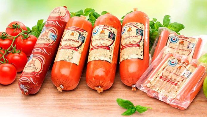 Упаковка колбасных изделий